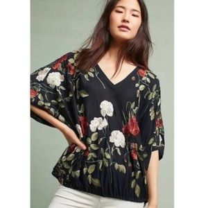 Akemi + Kin for Anthropologie embroidered blouse